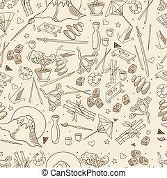 Japan seamless retro vector illustration