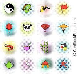 Japan set icons