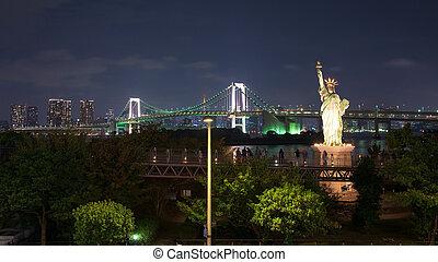 japan, skyline, odaiba