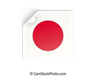 Japan,  sticker, plein, vlag