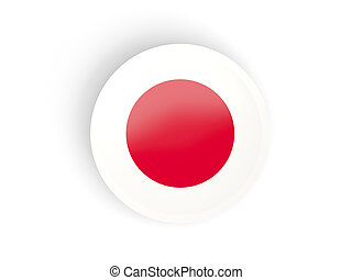 Japan,  sticker, vlag, ronde