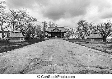 Japan temple traditional culture , Sutengu Shrine in Otaru Hokkaido.