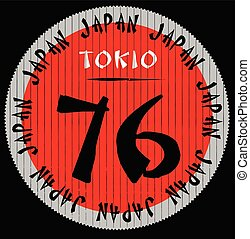 Japan Tokio graphic logo tee design