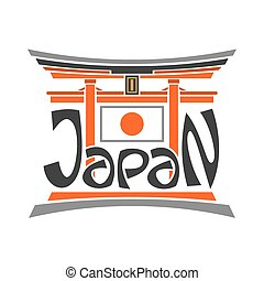 Abstract image torii in Japan