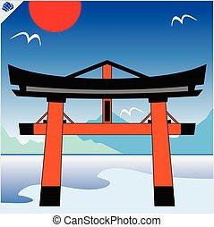 japan, torii låge