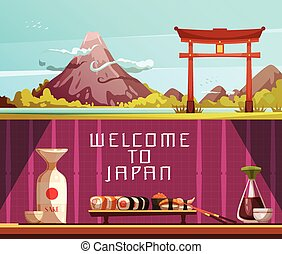 Japan Travel 2 Horizontal Retro Banners