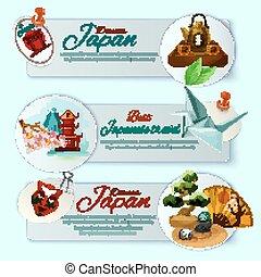 Japan Travel Banner Set