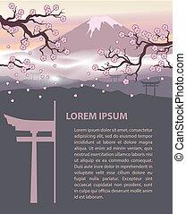 Japan travel design template