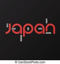 Japan vector t-shirt and apparel design, typography, print, logo