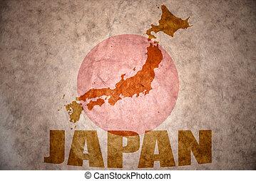 japan vintage map