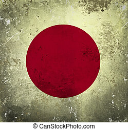 japan vlag, grunge