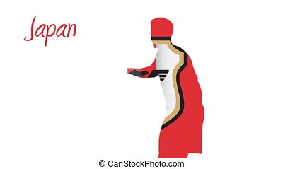 Japan world cup 2014 animation with