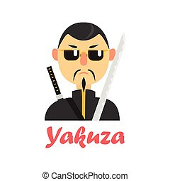 Japaneese Yakuza Cartoon Style Icon - Japaneese Yakuza ...