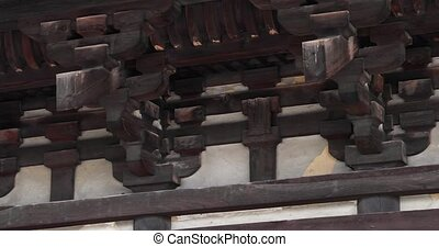Japanese architectural detail wood crafted roof - ...
