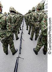 Japanese army parade