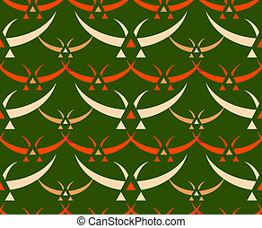 Japanese birds seamless pattern