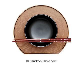 Japanese bowl and chopsticks