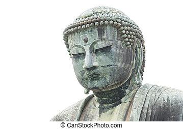 Japanese Buddha statue, isolate on white