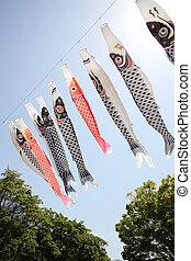 Japanese carp kite streamer - Japanese carp kite decoration...