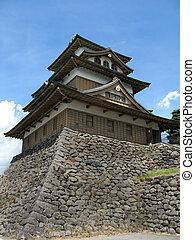 Japanese Castle 2 - A Japanese castle on a bright blue sunny...