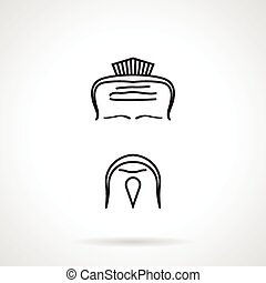 Japanese chef vector icon