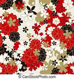 Japanese classic floral seamless pattern