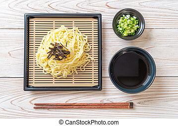 Japanese cold ramen noodles