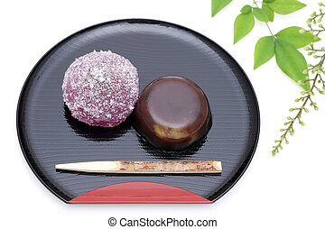 Japanese confectionery, jelly Yokan - Japanese traditional...