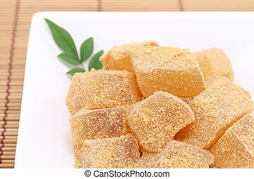 Japanese confectionery, Warabi mochi traditional sweets