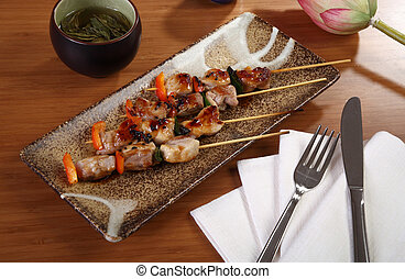 skewers with spices