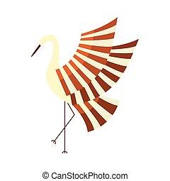 Japanese crane, symbol of good luck and longevity