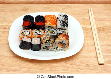 set of rolls on plate