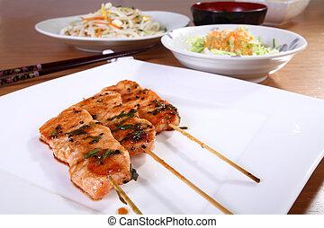 Japanese cuisine skewers