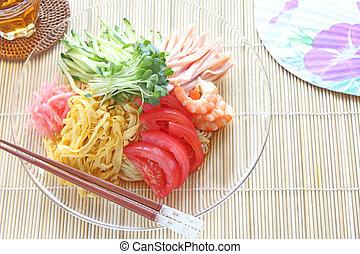 Japanese cuisine, summer cold noodles