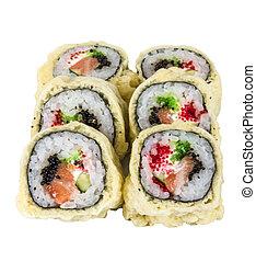 Japanese Cuisine -Tempura Maki Sushi (Deep Fried Roll made ...