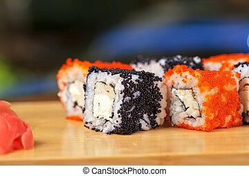 tobico sushi rolls - Japanese cuisine - tobico sushi rolls