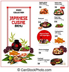 Japanese cuisine, traditional meal menu - Japanese cuisine ...