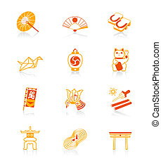 Japanese culture icons | JUICY - Traditional japanese...