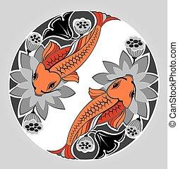 Japanese decorative KOI