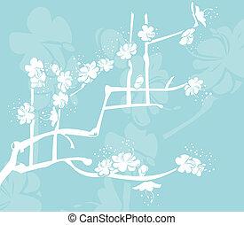 japanese design - A Floral background