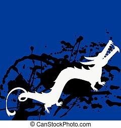 Japanese Dragon Painting Vector
