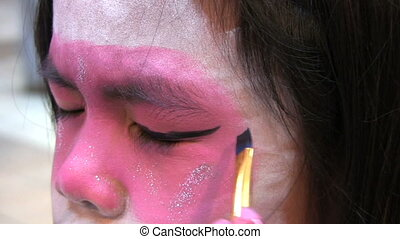 Japanese Face Painting-Eyeliner