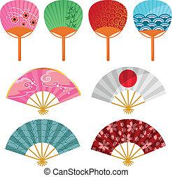 japanese fans - set of Japanese fans