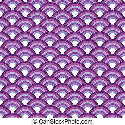 Japanese fish scales seamless vector texture