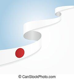 Japanese flag background. Vector illustration.