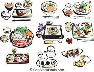 Japanese food, drinks, sweets