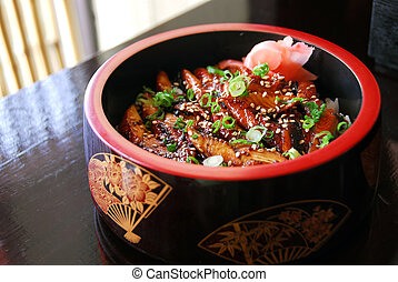 Japanese food - Gourmet japanese food barbequed eel served...