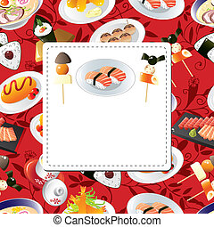 Japanese food menu