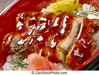 japanese food roast eel - unagi .Japanese cuisine