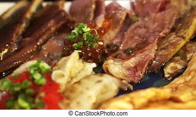 Japanese food sashimi aburi